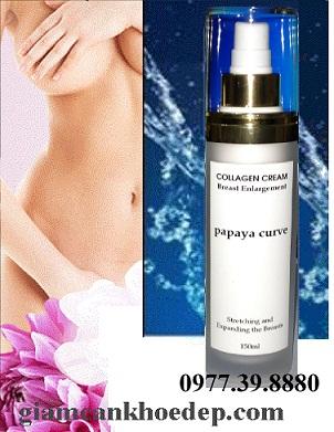 Kem nở ngực Papaya curve Breast Enlarge Collagen Cream dành cho ngực nhỏ bẩm sinh, giúp bạn có một bộ ngực đẹp căng tròn tự nhiên
