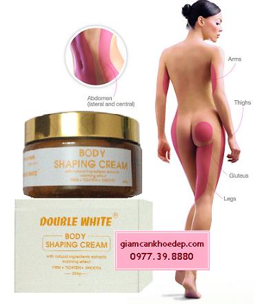 Sản phẩm tam mỡ hiệu quả Double white body shaping cream