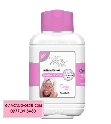 Kem dưỡng trắng nhanh 5 ngày cho da mặt và body White Express