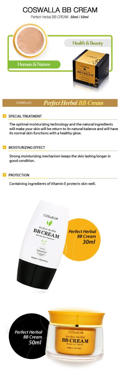 Coswella Perfect Herbal BB Cream là một giải pháp điều trị đặc biệt cho da bị kích thích và da đỏ