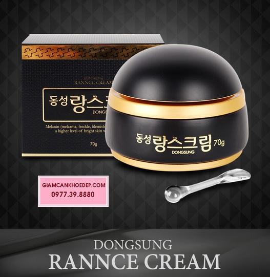 Kem làm trắng da, trị nám, tàn nhan Dongsung rannce cream