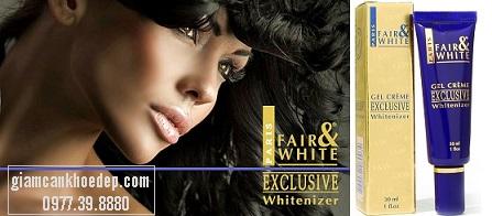 Fair & White Exclusive Gel Creme với công thức tiên tiến độc quyền nó cung cấp một hệ thống làm trắng da hiệu quả chỉ sau 7 ngày