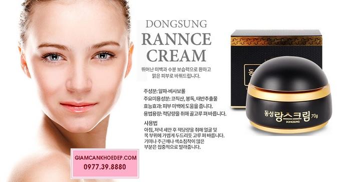 Sở hữu làn da trắng, hết nám với kem Dongsung rannce cream