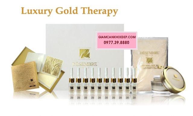 Bộ mặt nạ vàng lá 24k 9999 Luxury gold therapy