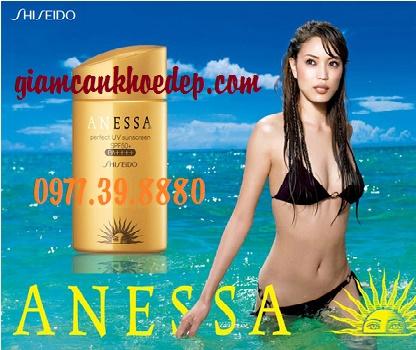 Kem chống nắng dùng cho đi biển shiseido anessa