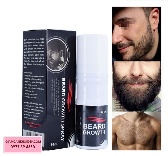 Thu?c m?c rau m?c tóc Beard growth spray
