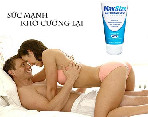 gel bôi MaxSize trong kích thích sinh lý nam nữ