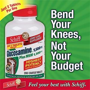 Sản phẩm bổ khớp cao cấp Schiff ® Glucosamine plus MSM