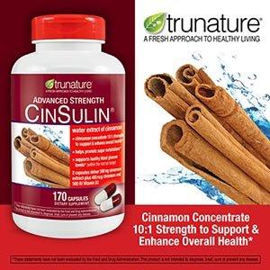 Sản phẩm điều trị bệnh tiểu đường Trunature Advanced Strength Cinsulin Cinnamon