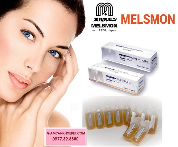 Melsmon platinum liquid nước uống thay thế thuốc tiêm truyền trắng da trị nám