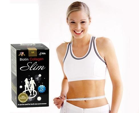 Thuốc Giảm Cân đẹp da Biotin Collagen Slim