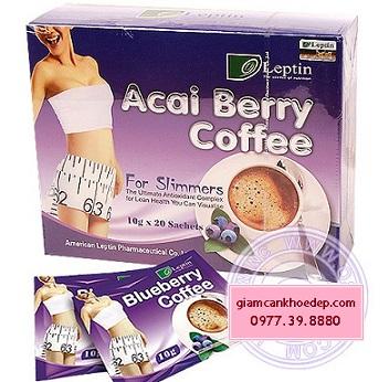 Leptin Acai Berry Coffee - Cà phê giảm cân hiệu quả