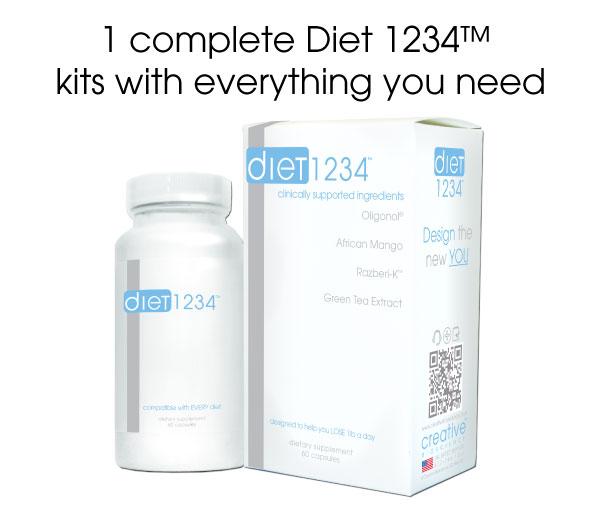 Sản phẩm giảm cân thế hệ mới DIET 1234