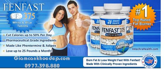 Viên giảm cân mạnh nhất fenfat 375