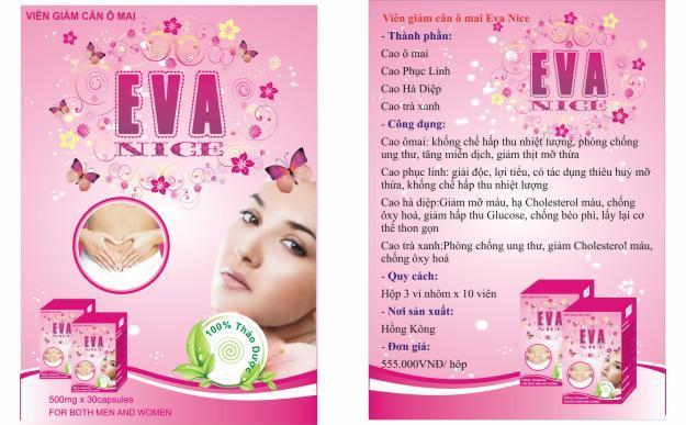 Thuốc giảm cân Eva nice chiết xuất ô mai