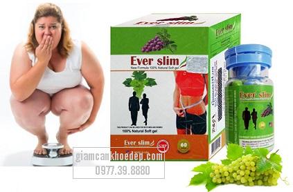 Thuốc giảm cân chiết xuất từ trái nho Ever slim USA