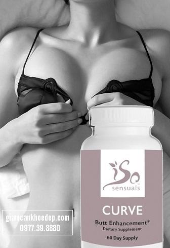 sử dụng thuốc nở ngực IsoSensuals CURVE để ngực phát triển nhanh nhất chỉ sau 2-3 tuần