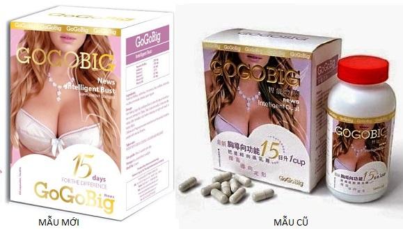 mẫu cũ và mới thuốc nở ngực gogobig
