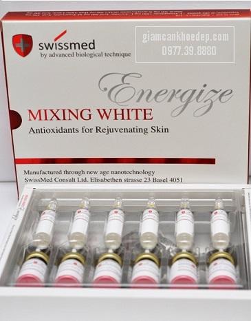 Mixing white Energize là một trong những thuốc tiêm trắng da nhanh nhất tạo ra năng lượng từ bên trong giúp cho làn da trẻ hóa