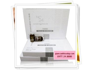 NC24 Pure Crystalize Ultimate Whitening 15000 thuốc tiêm trắng da chiết xuất thảo dược và Collagen