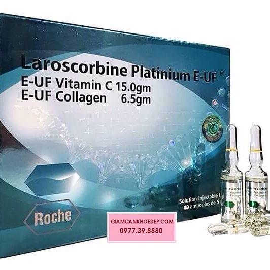 Laroscorbine Platinum E-UF mỹ phẩm làm trắng da chống nắng dạng tiêm