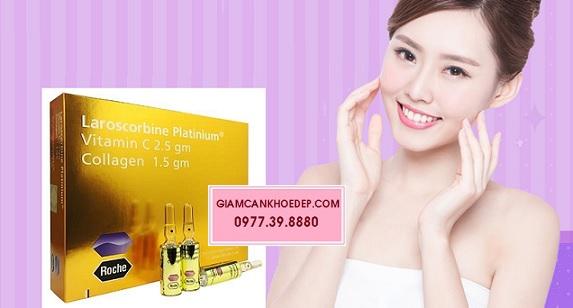 Laroscorbine platinum gold thành phần vitamin c 2.5gm, collagen 1.5gm làm trắng da nhanh