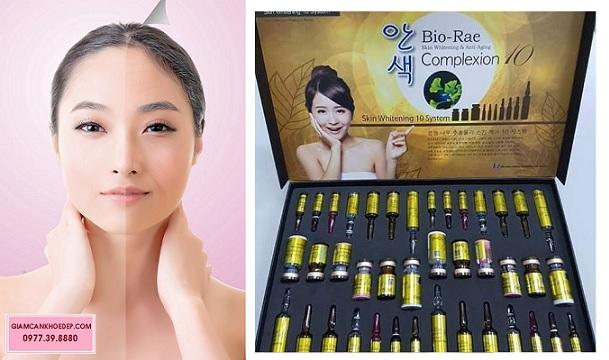 Bio-Rae Complexion 10 Skin Whitening System thuốc tiêm trắng loại mạnh nhanh nhất