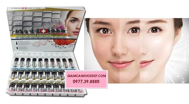 thuốc tiêm trắng Aqua Skin veniscy High Strength Whitening