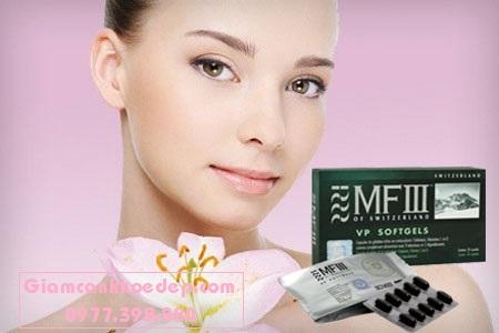 MFIII Vegetal Placenta Capsule Viên uống tế bào gốc MF3 trẻ hóa trắng da
