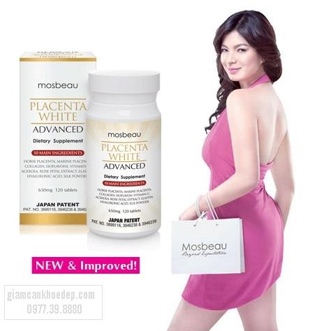 Mosbeau Placenta Whitening advanced là thuốc trắng da chiết xuất nhau thai