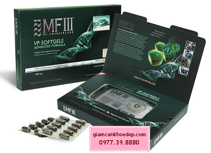 thuốc uống trắng da MF3 VP SoftGels Advanced Formula