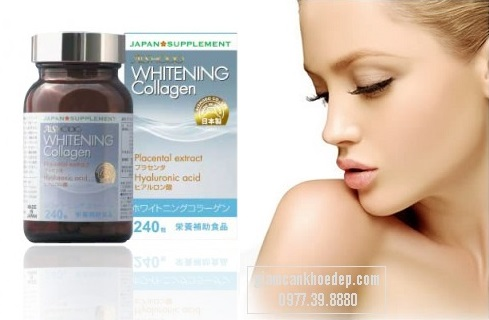 Whitening Collagen Viên uống trắng da trị nám của Nhật có thành phần đặc biệt giúp đẩy nhanh tốc độ tái tạo tế bào, chống lão hóa tối đa