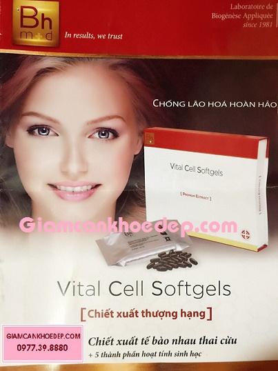 Viên uống tế bào gốc làm đẹp và trắng da VITAL CELL SOFTGELS
